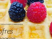 Idea desayuno merienda: Gofres caseros saludables aptos para intolerantes lactosa. comida juega, raya.