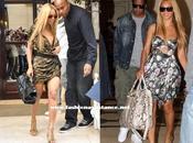 Beyonce deslumbra París larga melena rubia minivestidos primaverales