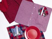 Manteles individuales hechos camisas