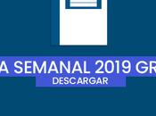 Descargar agenda semanal 2019 gratis Para imprimir】
