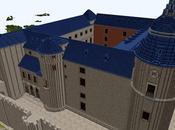 Réplica Minecraft Castillo Simancas, Valladolid, España.