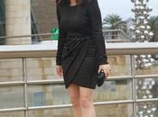 Look noche vestido negro brillos