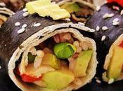 Rollitos veganos tortilla algas rellenos arroz verduras