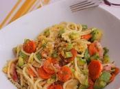 Espaguetis verduras queso lactosa