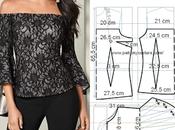 blusa manga capa asimétrica Talla