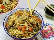 Fideos chinos vegetarianos Thermomix
