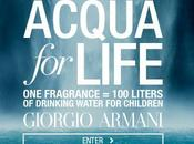 Acqua life: movimiento solidario Giorgio Armani