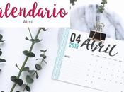 Freebie: Calendario Abril 2019