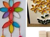 lindos adornos para pared reciclando rollos papel higiénico