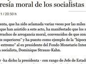 Esperanza Aguirre acusa todos socialistas violadores como Strauss-Kahn
