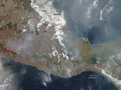 México: imagen satélite humo incendios forestales (13-05-2019)