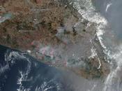 México: imagen satélite humo incendios (14-05-2019)