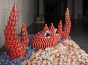 arte alimenta: esculturas comen