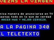 Virgen vende cerveza través Teletexto