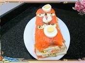 Pastel salado salmón atún