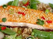 Soba noodles salmón (pasta trigo sarraceno)