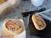 Rollo tortilla jamón