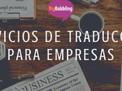 Servicios traducción para empresas