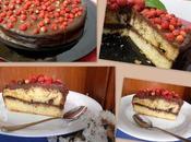 Pastel chocolate fresitas lactosa