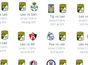 Calendario León Apertura 2019