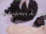 Arroz negro sepia alioli alcachofa