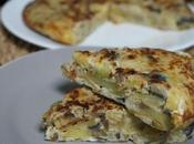 Tortilla berenjena calabacín patatas