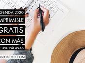 Agenda 2020 imprimible gratis páginas
