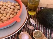 Receta Hummus Aguacate.