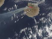 España: imagen satélite humo incendio Gran Canaria (18-08-2019)