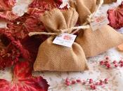 Detalles para bodas otoño; jabones, bálsamos saquitos perfumados.