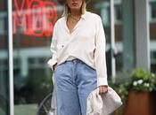 Seasonal trend; slouchy jeans.-