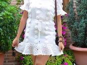 Vestido blanco topos