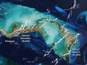 antes después Bahamas visto desde espacio, tras paso devastador Huracán Dorian