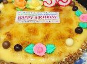 Tarta cumpleaños nata yema quemada