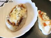Patatas rellenas piperrada pollo