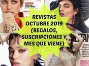 Revistas Octubre 2019 (Regalos, suscripciones viene)