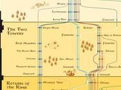 Infografía rutas personajes Señor Anillos