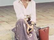 Falda larga floreada