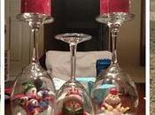 mejores adornos navideños usando copas vidrio