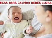 Formas tranquilizar bebé llorando casa