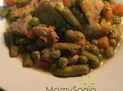 Menestra verduras carne olla