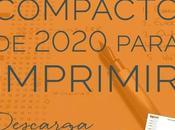 Descarga gratis calendario compacto 2020 para imprimir