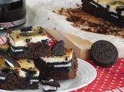 Brownie oreo cheesecake