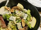 Ensalada queso azul vinagreta frutos secos