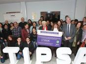 TIPSA concluye campaña sobres solidarios donando 32.000 euros cuatro