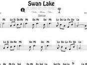 Lago Cisnes Partitura Fácil Notas Violín Flauta Oboe Clave