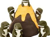 volcán varios dinosaurios peluche para juegue mascota