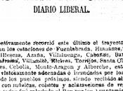 Relato inauguración línea Madrid Torrijos pasando Fuenlabrada 1876