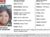 Activan Alerta Amber para Sharis Arlet años Rioverde