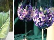 Cómo decorar mano copas vasos pintando bellas flores